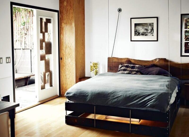белая спальня стиль лофт