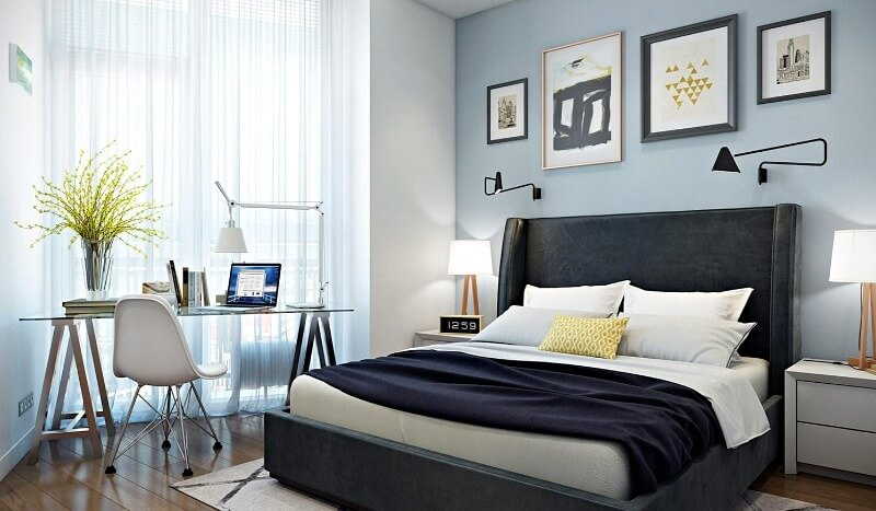 спальня-кабінет інтер'єр