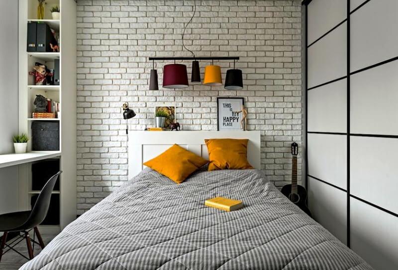 спальня лофт белая