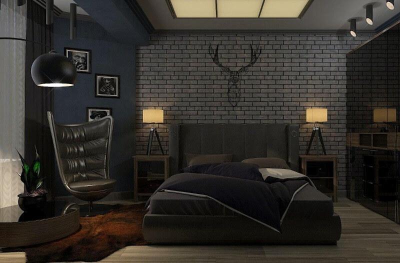 идеи для спальни лофт для мужчины