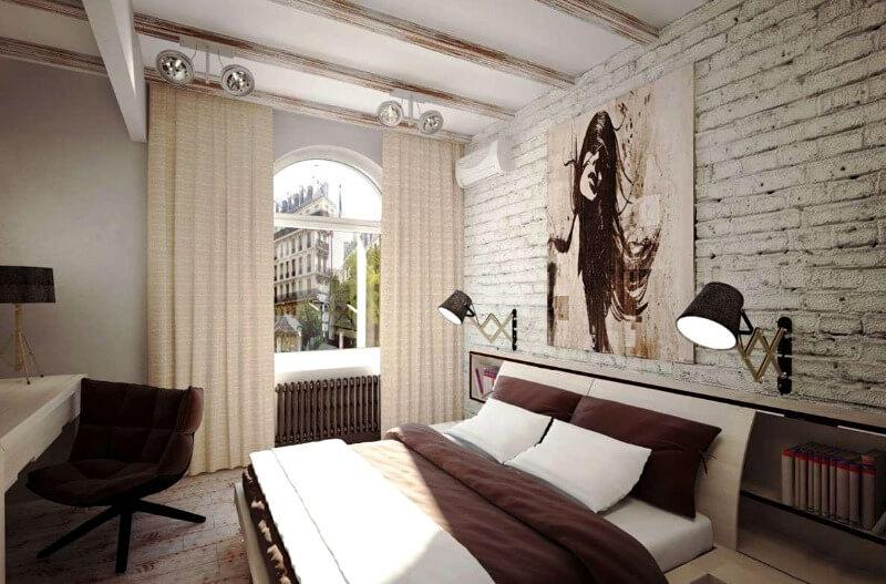спальня лофт идеи для женской комнаты