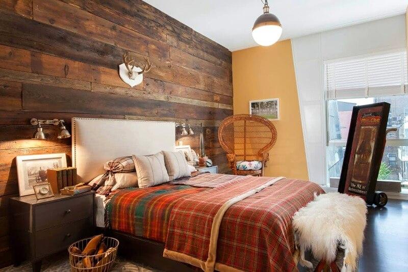 спальня лофт коричневая