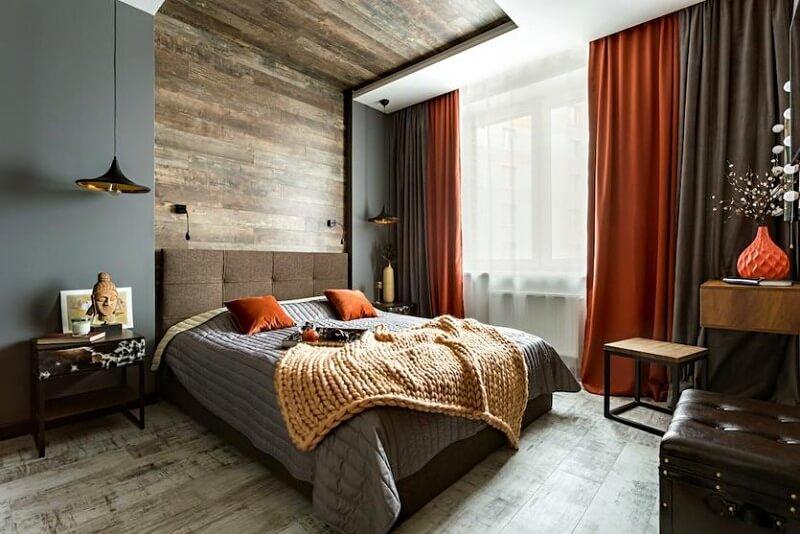 спальня серая лофт