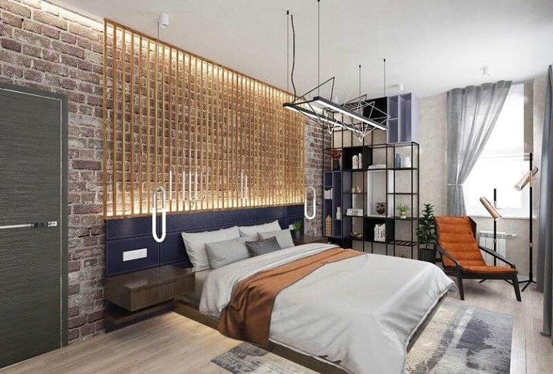 освещение спальни в стиле лофт