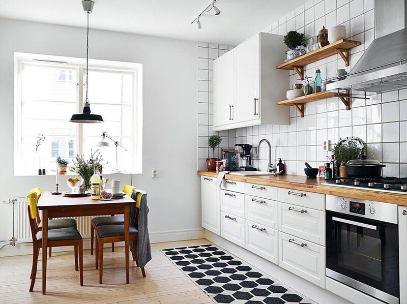 біла кухня в скандинавському стилі