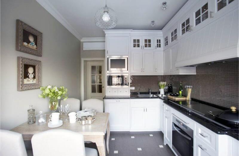 оформление акцентной стены на кухне