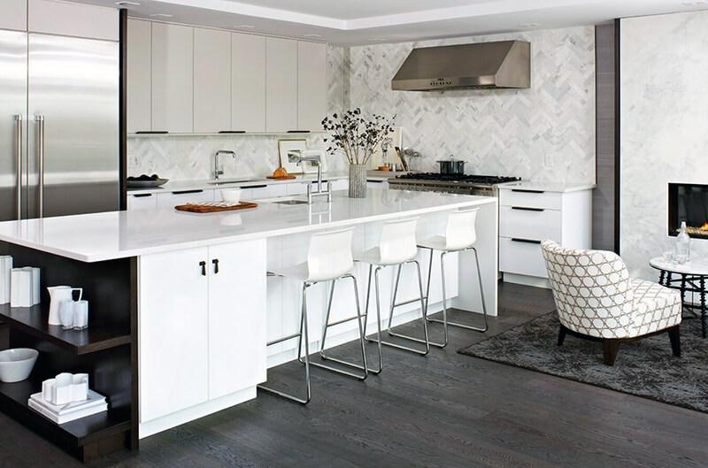 сучасна біла кухня