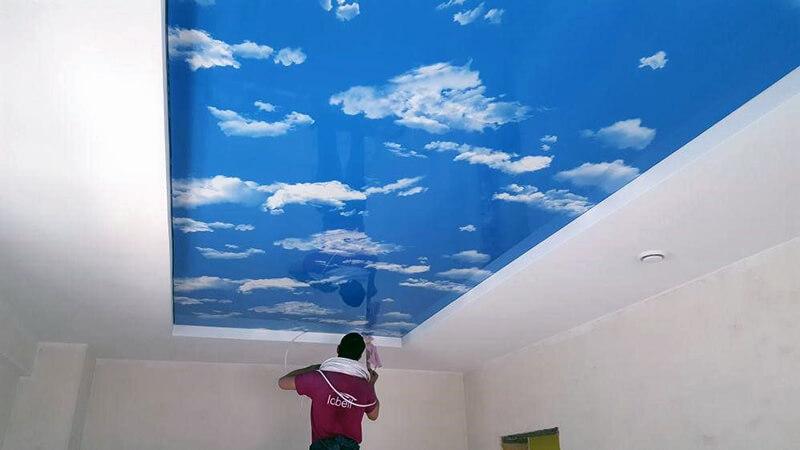 качественные натяжные потолки с мотивами природы
