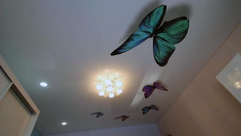 натяжные потолки в квартире с 3Д печатью