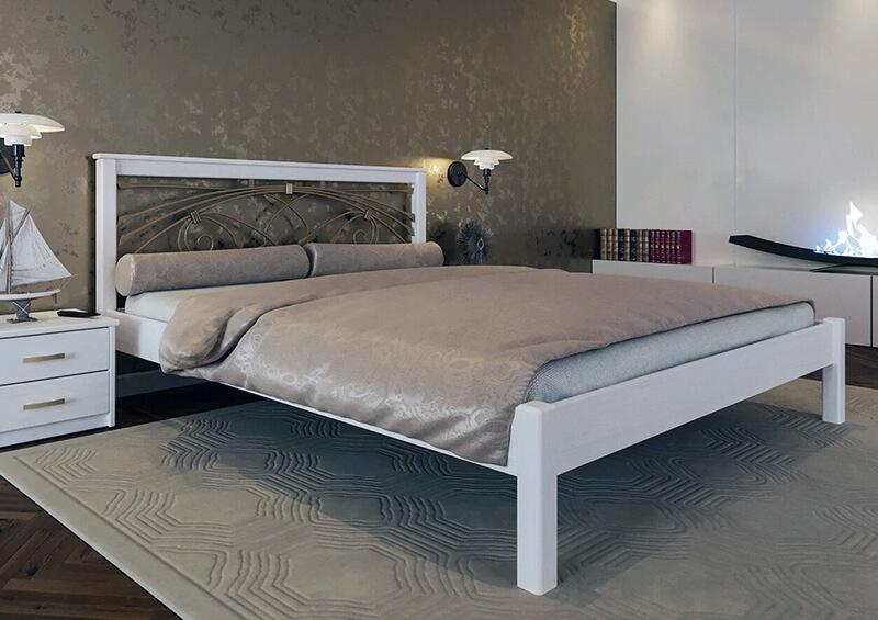 деревянная кровать в стиле модерн