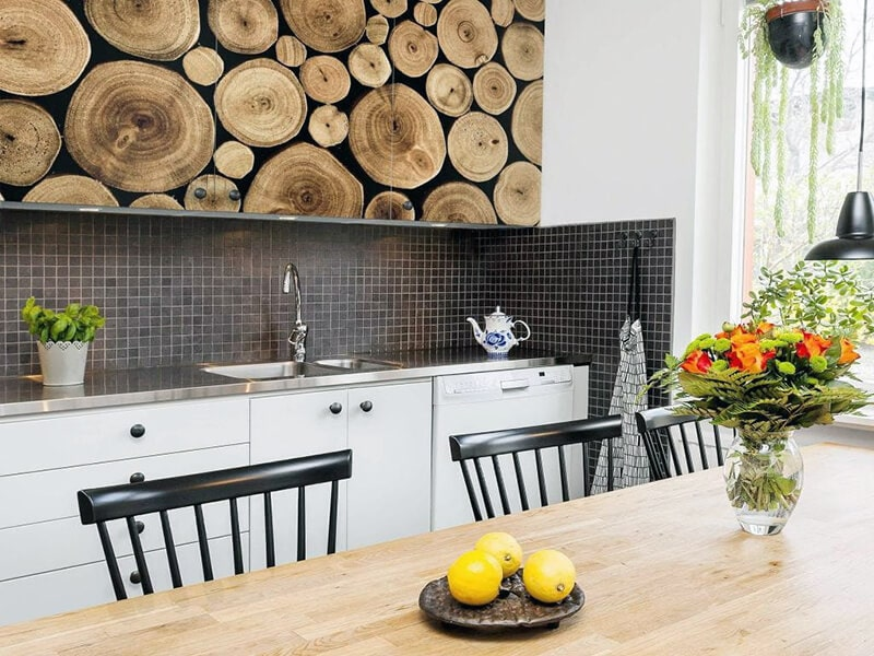 фотообои для кухни на фасаде мебели