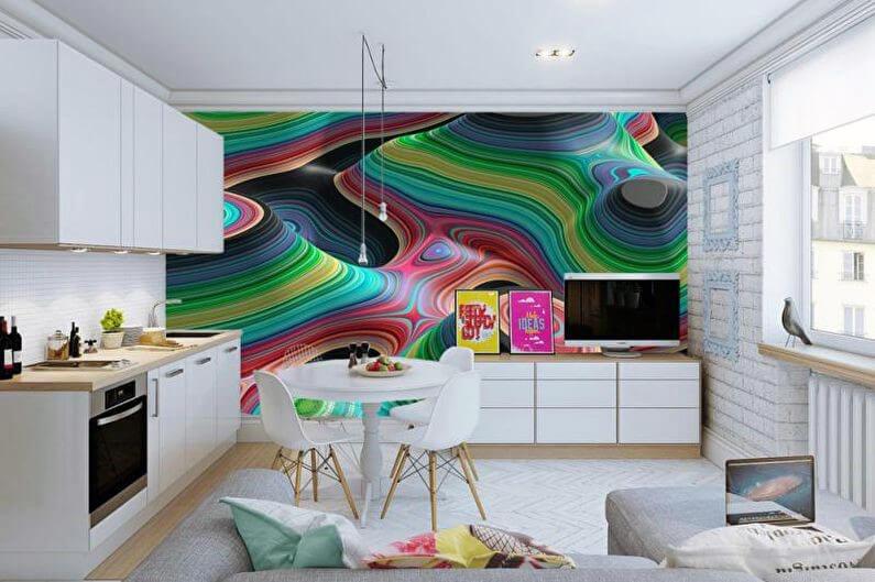 фотообои для кухни с абстрактными мотивами