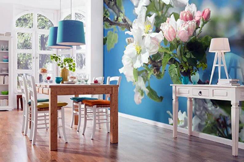 фотообои для кухни с флористическими мотивами