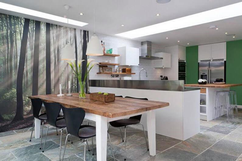 фотообои для кухни с природным пейзажем