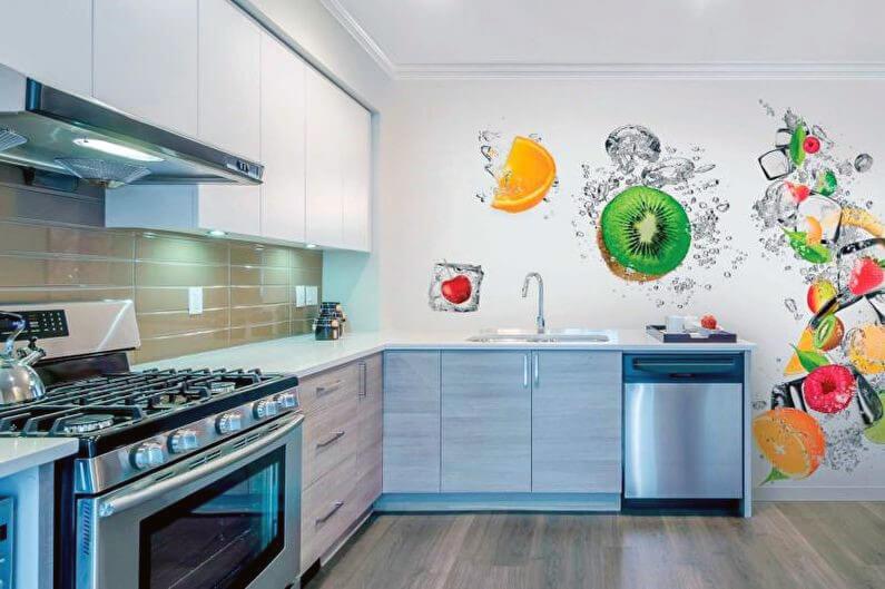 фотообои для кухни в стиле модерн