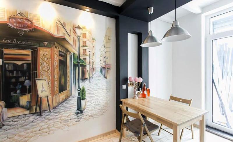 фотообои для кухни в стиле прованс