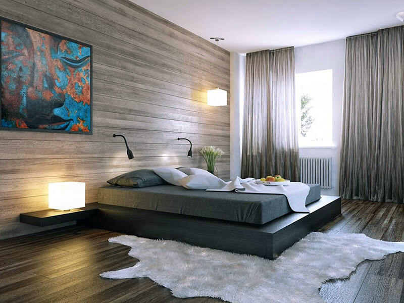 красивый настенный светильник в спальню