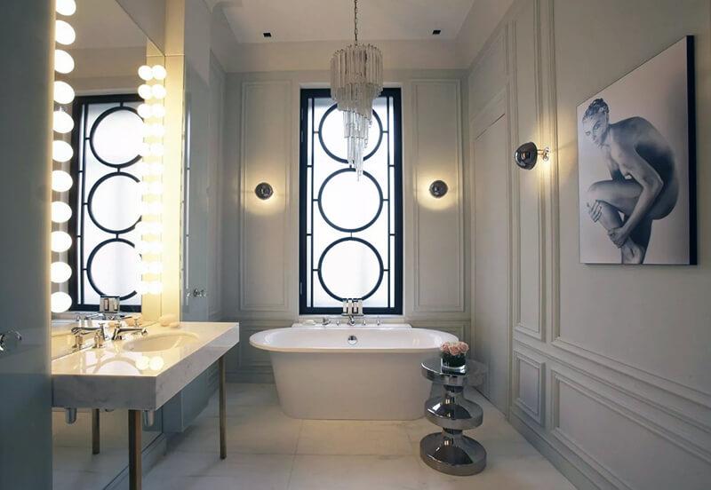 красивые настенные светильники в ванную