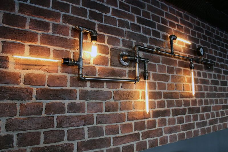 открытые настенные светильники