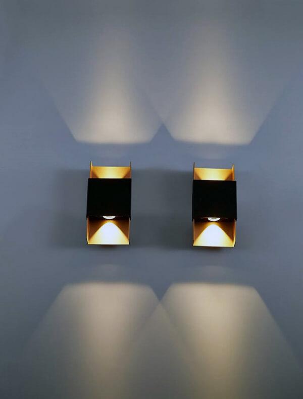 половинные настенные светильники