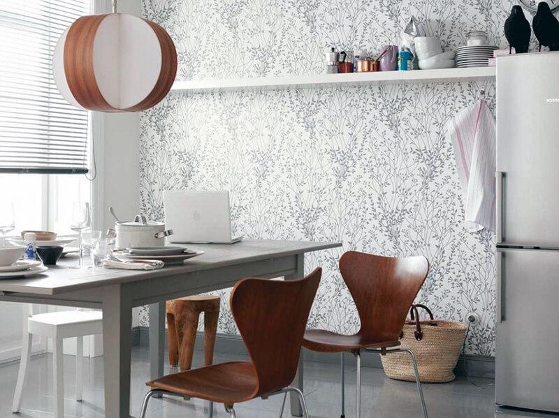 скандинавский стиль на фотообоях для кухни