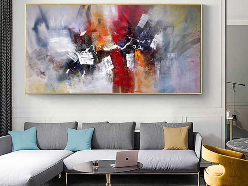 Абстрактная картина в дизайне интерьера