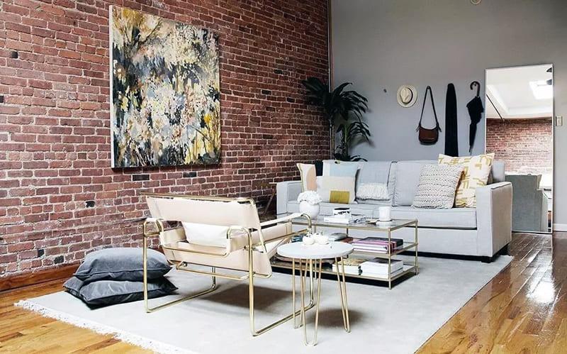 Дизайн інтер'єру кімнати лофт із застосуванням картин