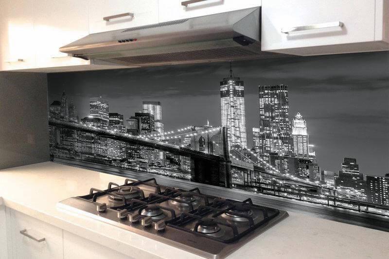 Фартук для кухни с изображением города