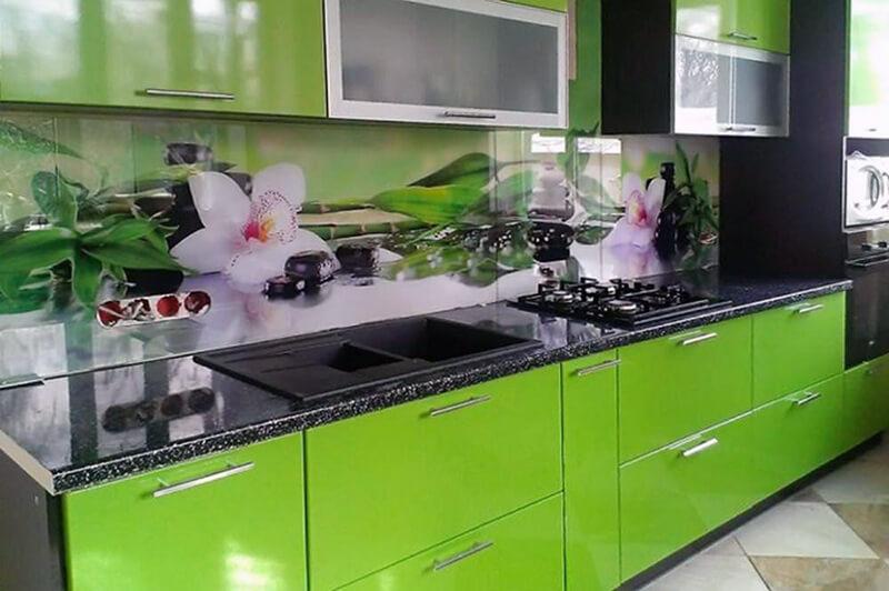 Фартук для кухни с изображением растений