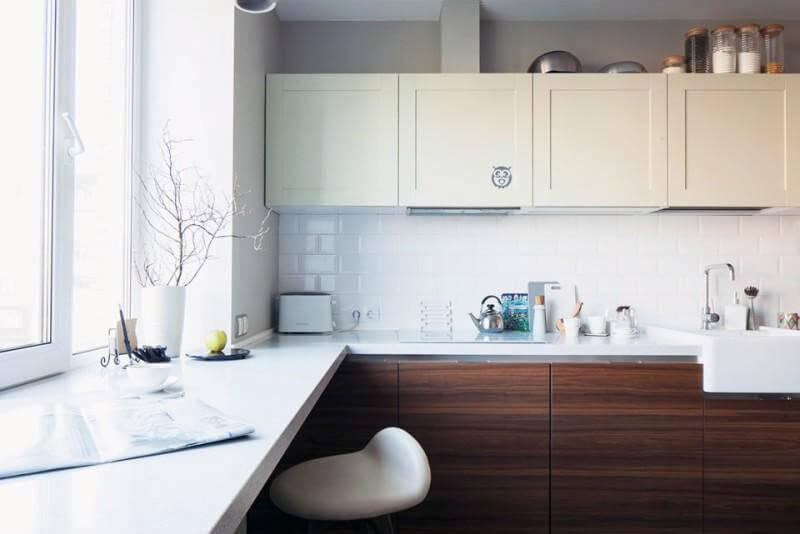 фартук с глянцевым покрытием для маленькой кухни