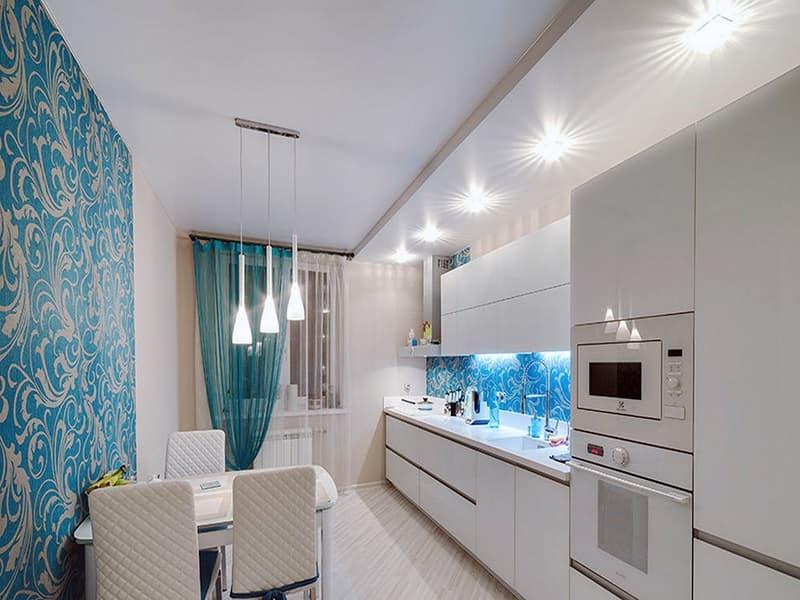 Интерьер комнаты с ярким освещением