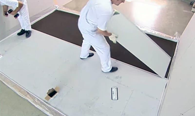 Використання гіпсокартонних листів для вирівнювання підлоги