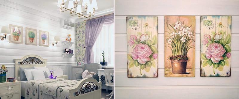Картины для оформления комнаты в стиле прованс