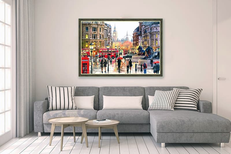 Картины с пейзажами для гостиной
