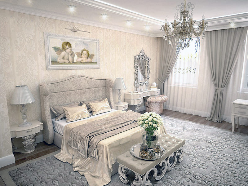 Копия картины известного художника в интерьере комнаты