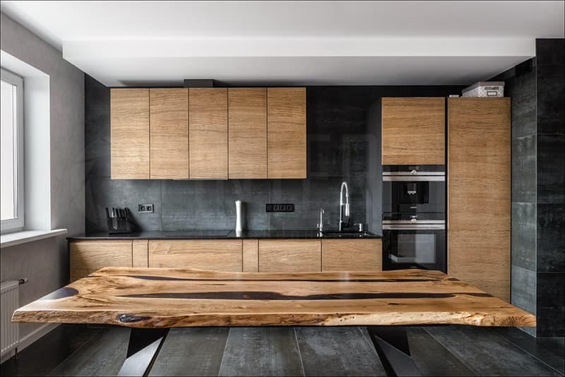 Мебель для кухни из натуральных материалов