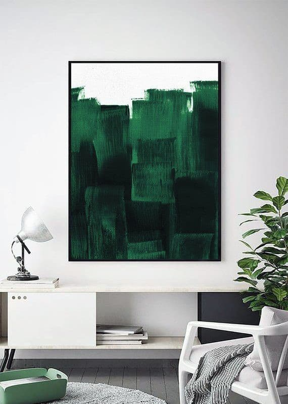 Оформлення інтер'єру кімнати в зелених тонах