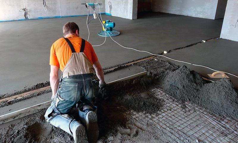 Напівсуха стяжка підлоги для вирівнювання