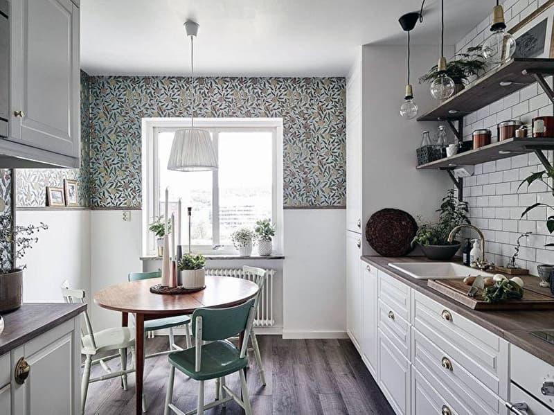 Пример дизайна стен на кухне