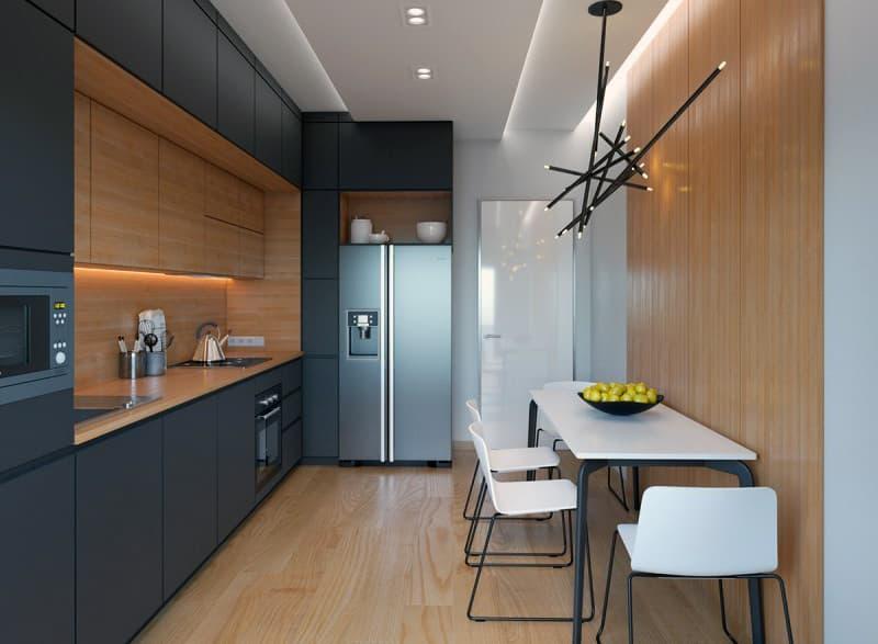 Пример интерьера кухни с лаконичным дизайном