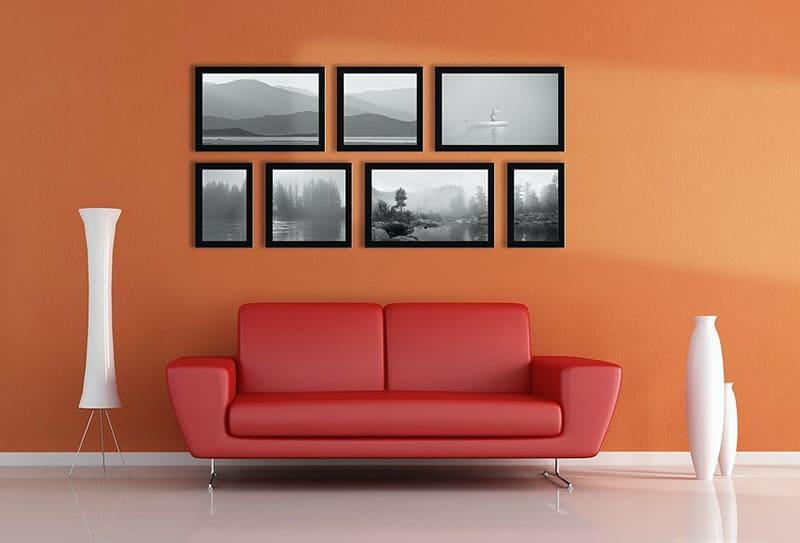 Пример картины с фотографией на стене