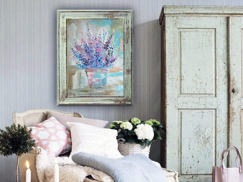 Приклад картини в стилі прованс для оформлення дизайну кімнати