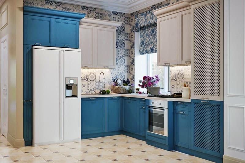 Сочетание разных дизайнов в интерьере кухни