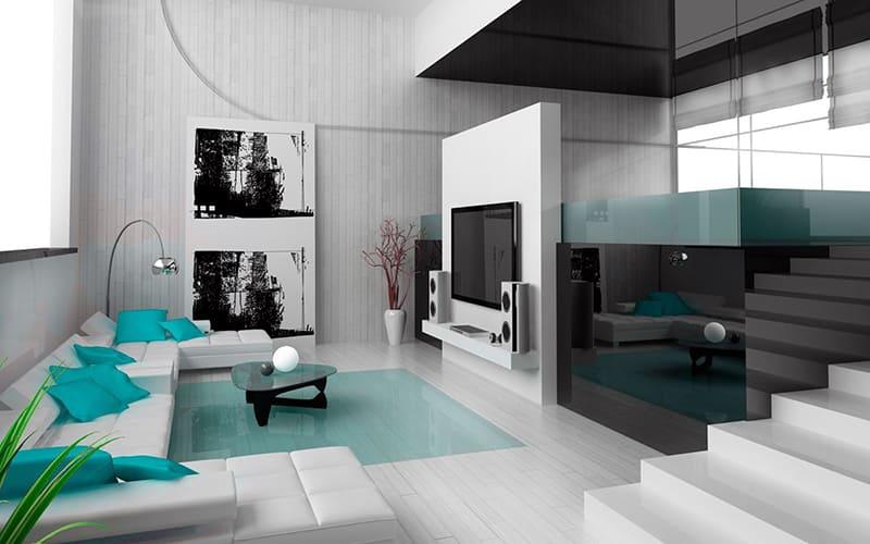 Сучасне полотно для хай-тек кімнати