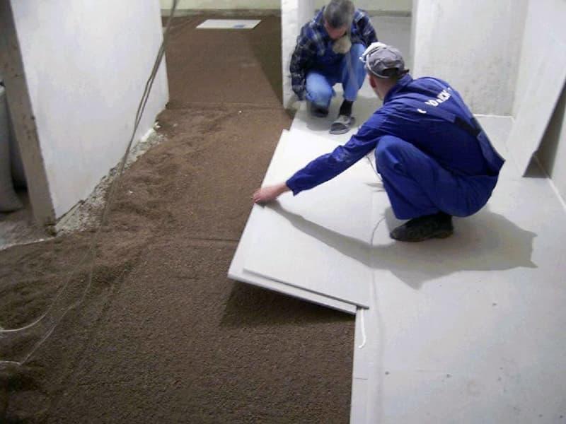 Суха стяжка для вирівнювання підлоги