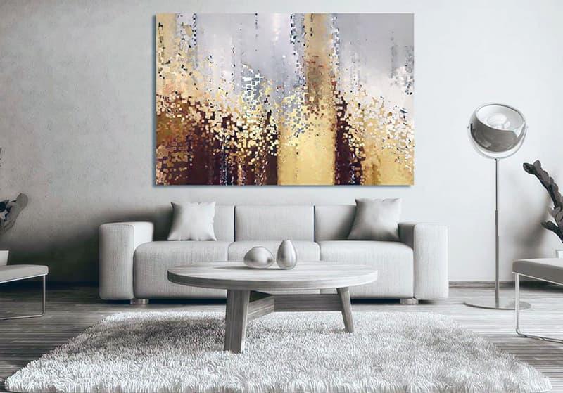 Великі картини для створення затишку в квартирі