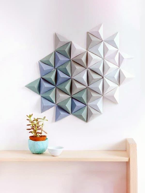 Бумажные изделия ручной работы как декор комнаты