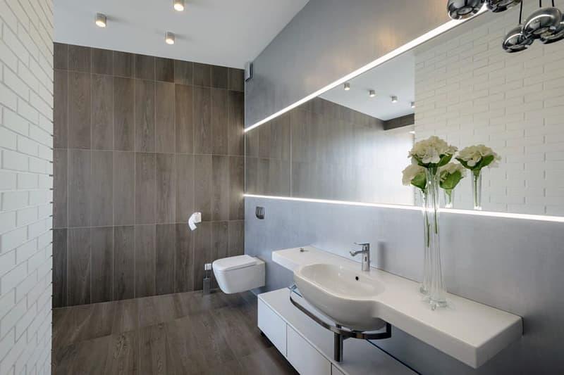 Декор минималистичной ванної кімнати