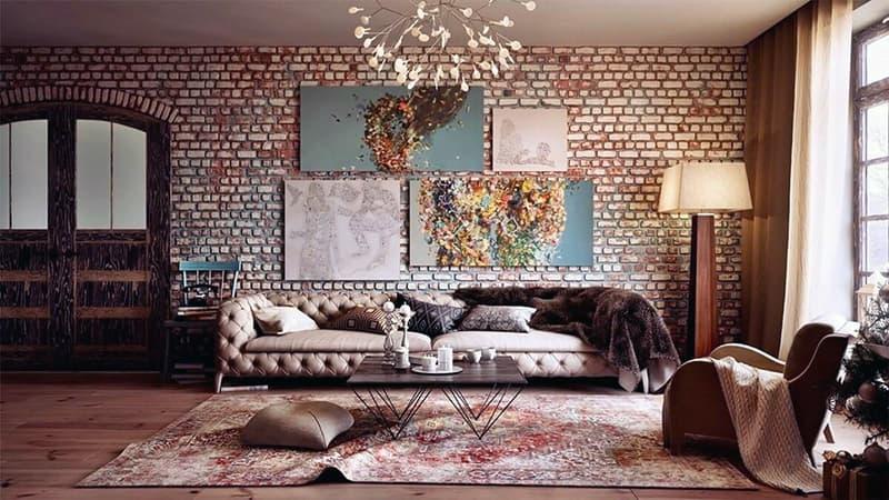 Использование картин в интерьере комнаты