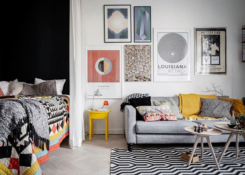 Изменение цветового акцента в дизайне комнаты